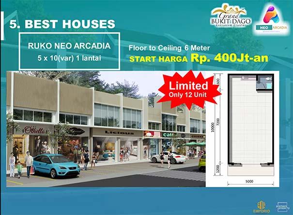Ruko Neo Arcadia Grand Bukit Dago